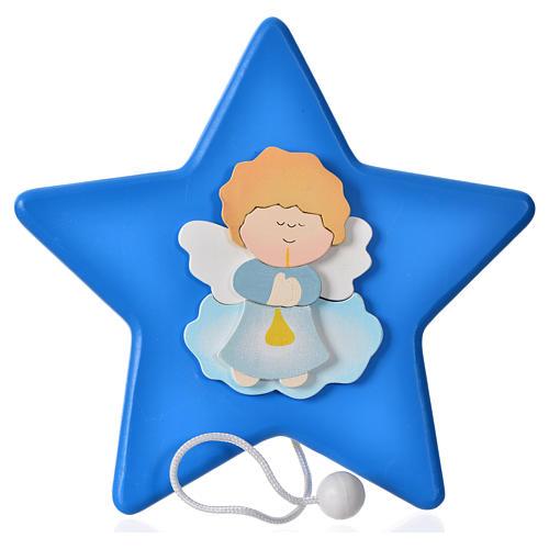 Gwiazda Anioł i pozytywka 16x16 cm 1