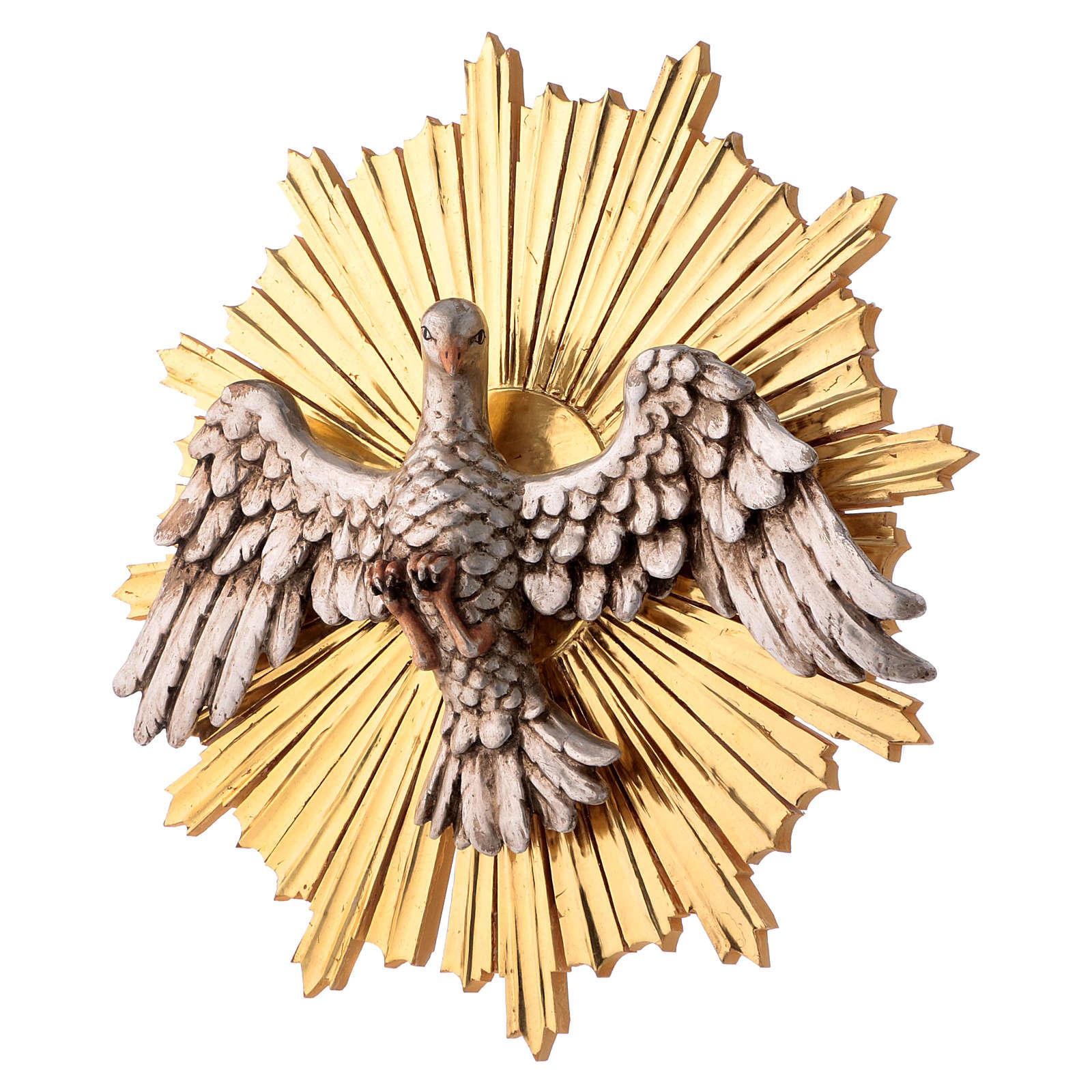 Bajorrelieve Espíritu Santo 44 cm madera Val Gardena Antiguo Gold 4