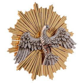 Bajorrelieve Espíritu Santo 44 cm madera Val Gardena Antiguo Gold s4