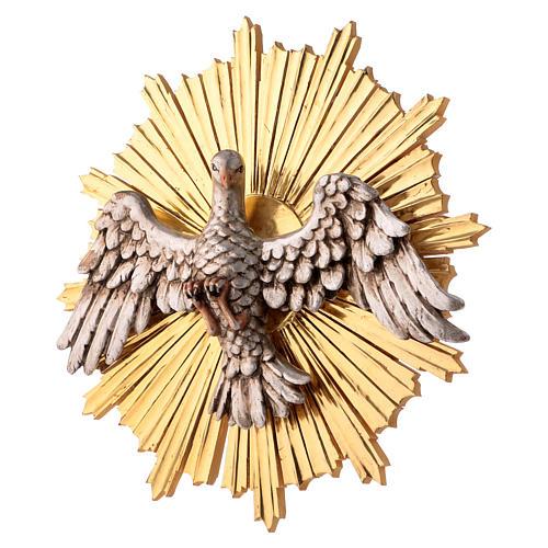Bajorrelieve Espíritu Santo 44 cm madera Val Gardena Antiguo Gold 3