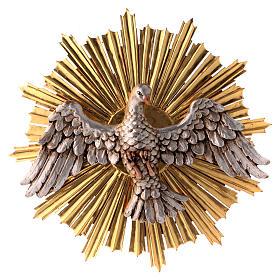 Bassorilievi vari: Bassorilievo Spirito Santo 44cm legno Valgardena Antico Gold