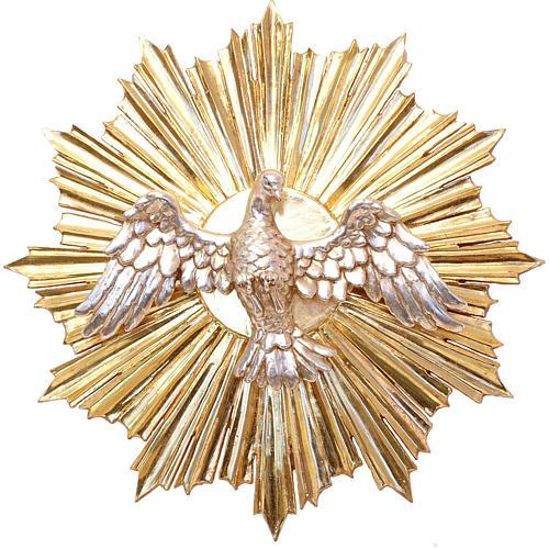 Bassorilievo Spirito Santo cm 28 legno Valgardena Antico Gold 1