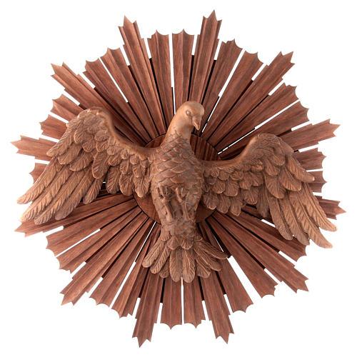 Bajorrelieve Espíritu Santo madera Val Gardena multipatinada 1