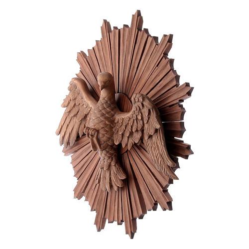 Bajorrelieve Espíritu Santo madera Val Gardena multipatinada 2