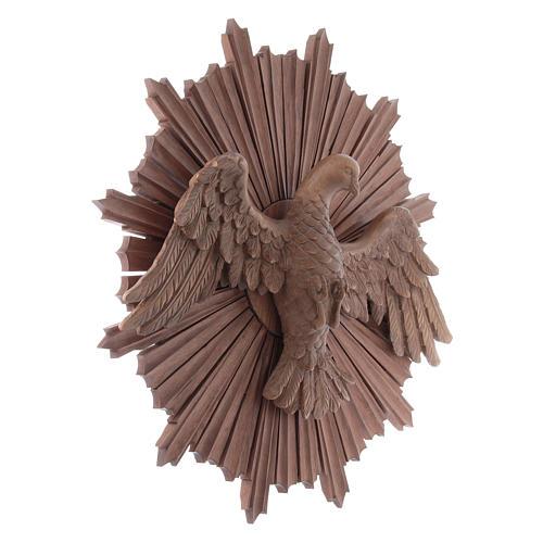 Bajorrelieve Espíritu Santo madera Val Gardena multipatinada 3