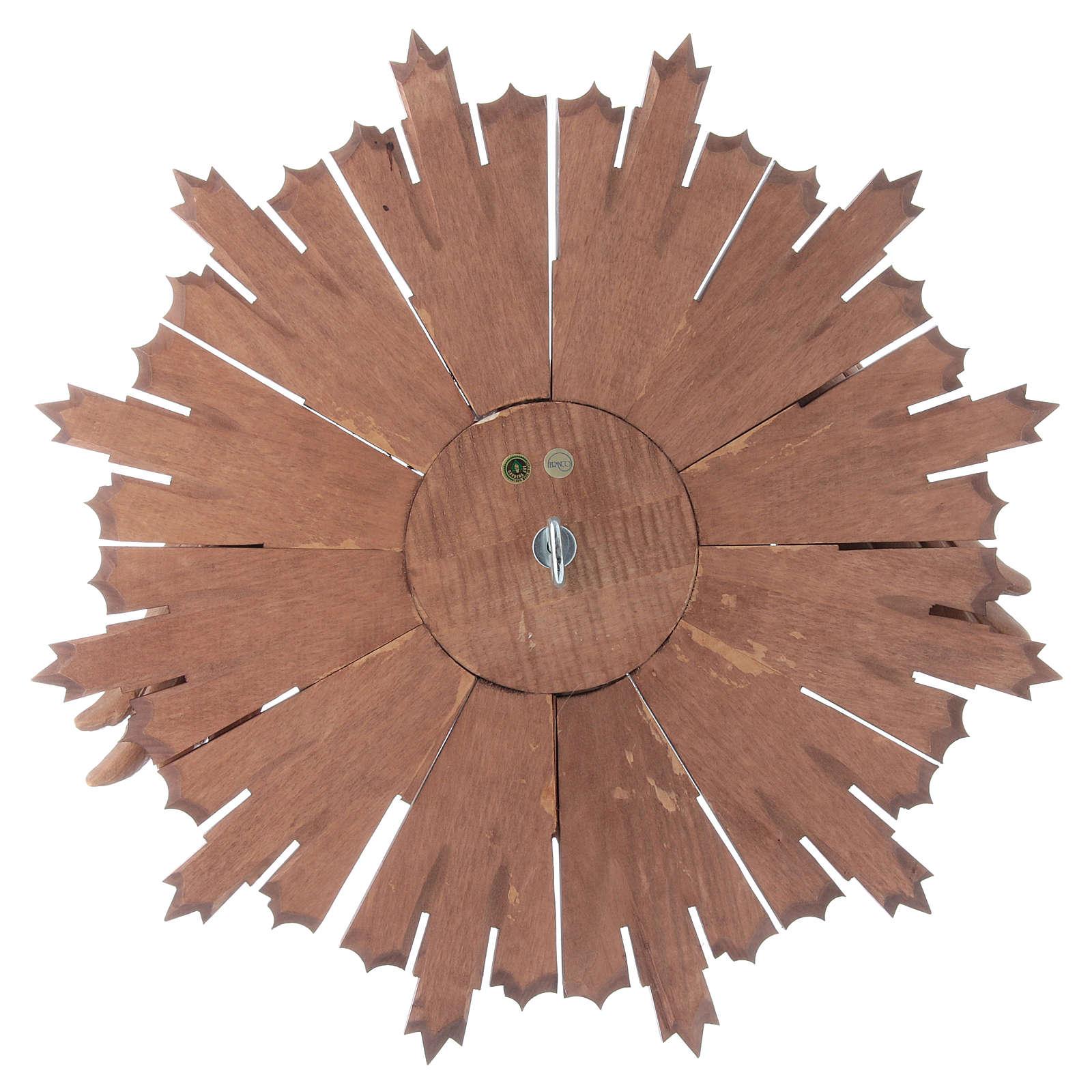 Bassorilievo Spirito Santo legno Valgardena multipatinato 4