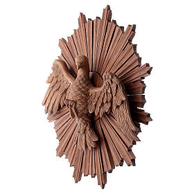 Bassorilievo Spirito Santo legno Valgardena multipatinato s2