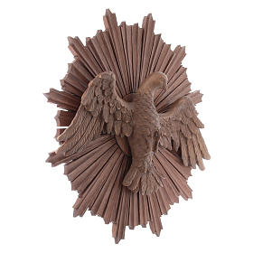 Bassorilievo Spirito Santo legno Valgardena multipatinato s3