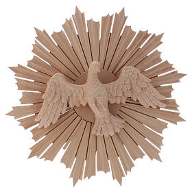 Bas-relief, Holy Spirit 28cm in natural wax Valgardena wood s1