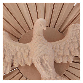 Bas-relief, Holy Spirit 28cm in natural wax Valgardena wood s2