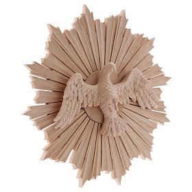 Bas-relief, Holy Spirit 28cm in natural wax Valgardena wood s4