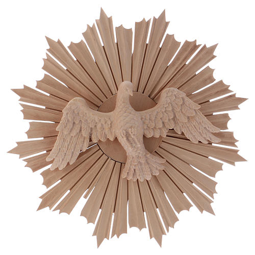 Bas-relief, Holy Spirit 28cm in natural wax Valgardena wood 1