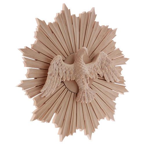 Bas-relief, Holy Spirit 28cm in natural wax Valgardena wood 4