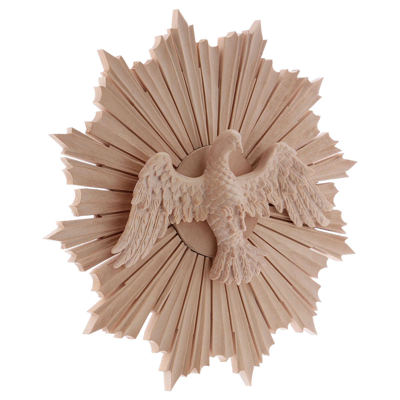 Bajorrelieve Espíritu Santo madera 28 cm Val Gardena natural encerada 4