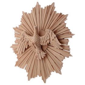 Bajorrelieve Espíritu Santo madera 28 cm Val Gardena natural encerada s3