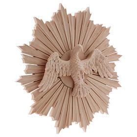 Bajorrelieve Espíritu Santo madera 28 cm Val Gardena natural encerada s4