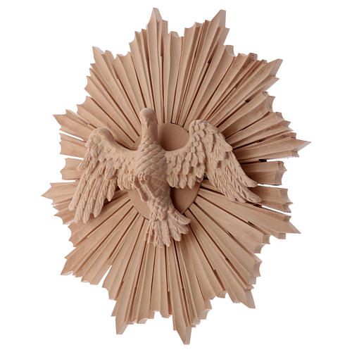 Bajorrelieve Espíritu Santo madera 28 cm Val Gardena natural encerada 3