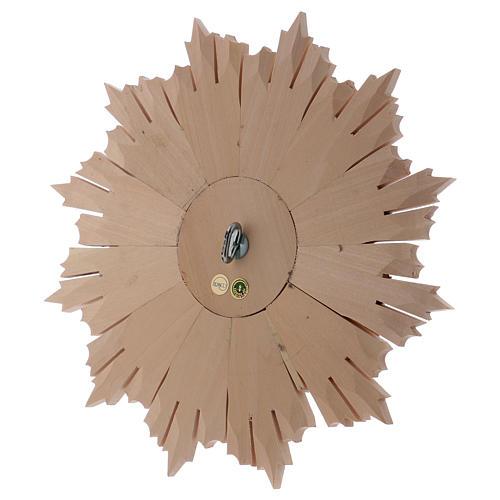 Bajorrelieve Espíritu Santo madera 28 cm Val Gardena natural encerada 5