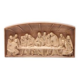 Bassorilievo Ultima Cena legno Valgardena multipatinato s5