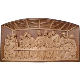 Bassorilievo Ultima Cena legno Valgardena multipatinato s1