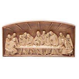 Bassorilievo Ultima Cena legno Valgardena multipatinato s2