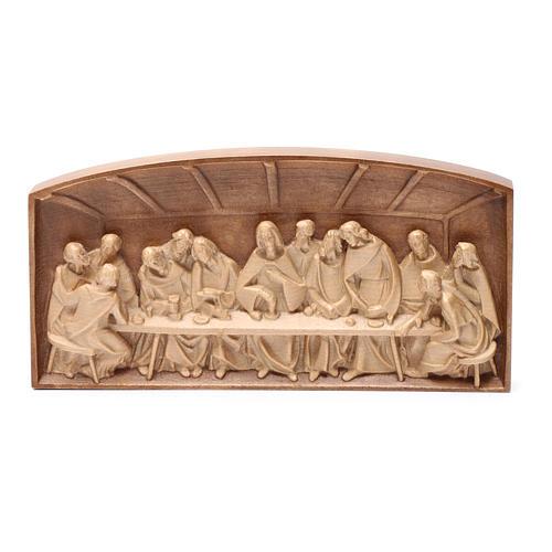 Bassorilievo Ultima Cena legno Valgardena multipatinato 5