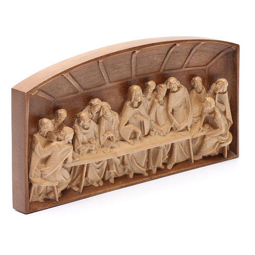 Bassorilievo Ultima Cena legno Valgardena multipatinato 6