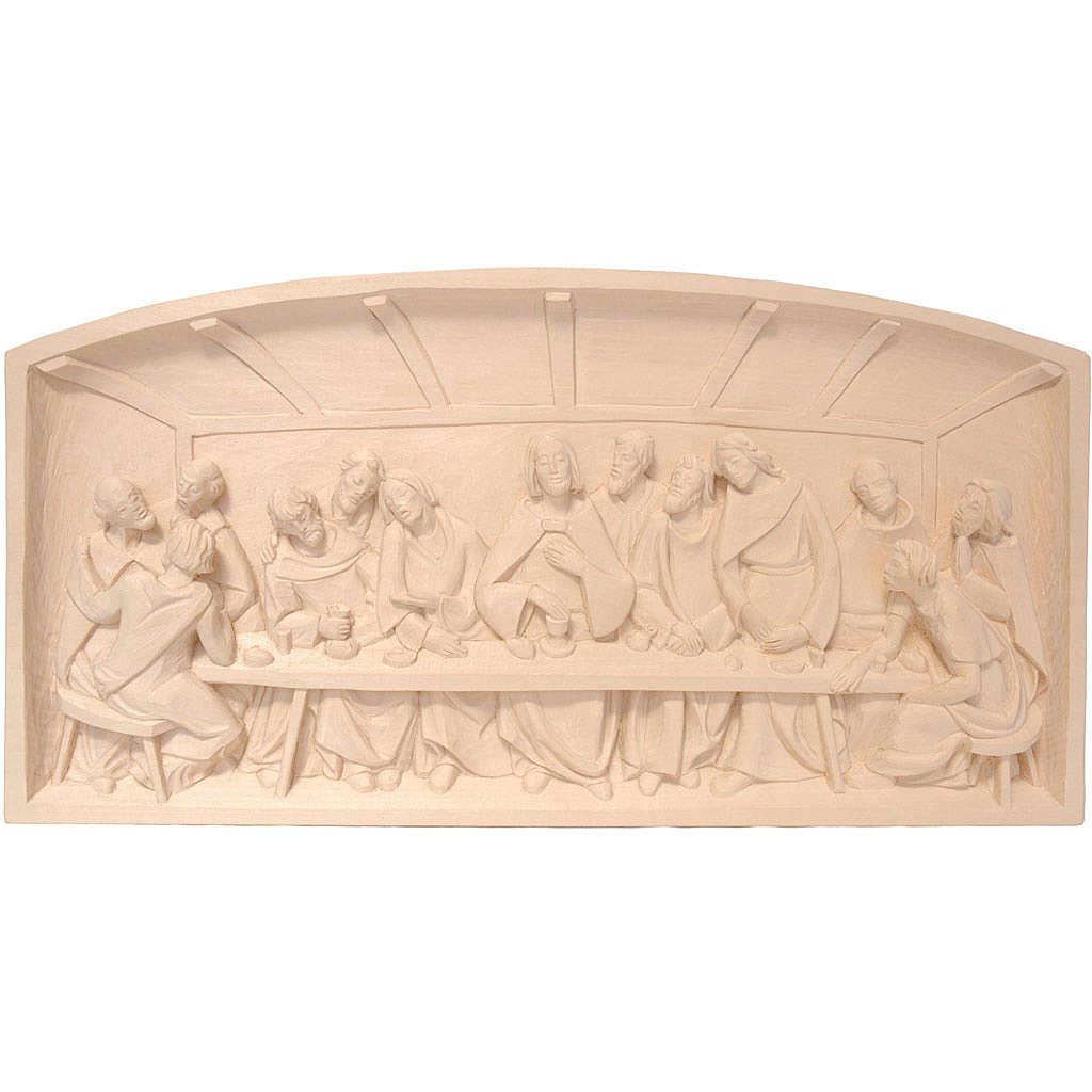 Bas-relief Cène 12x23 cm bois Valgardena naturel ciré 4
