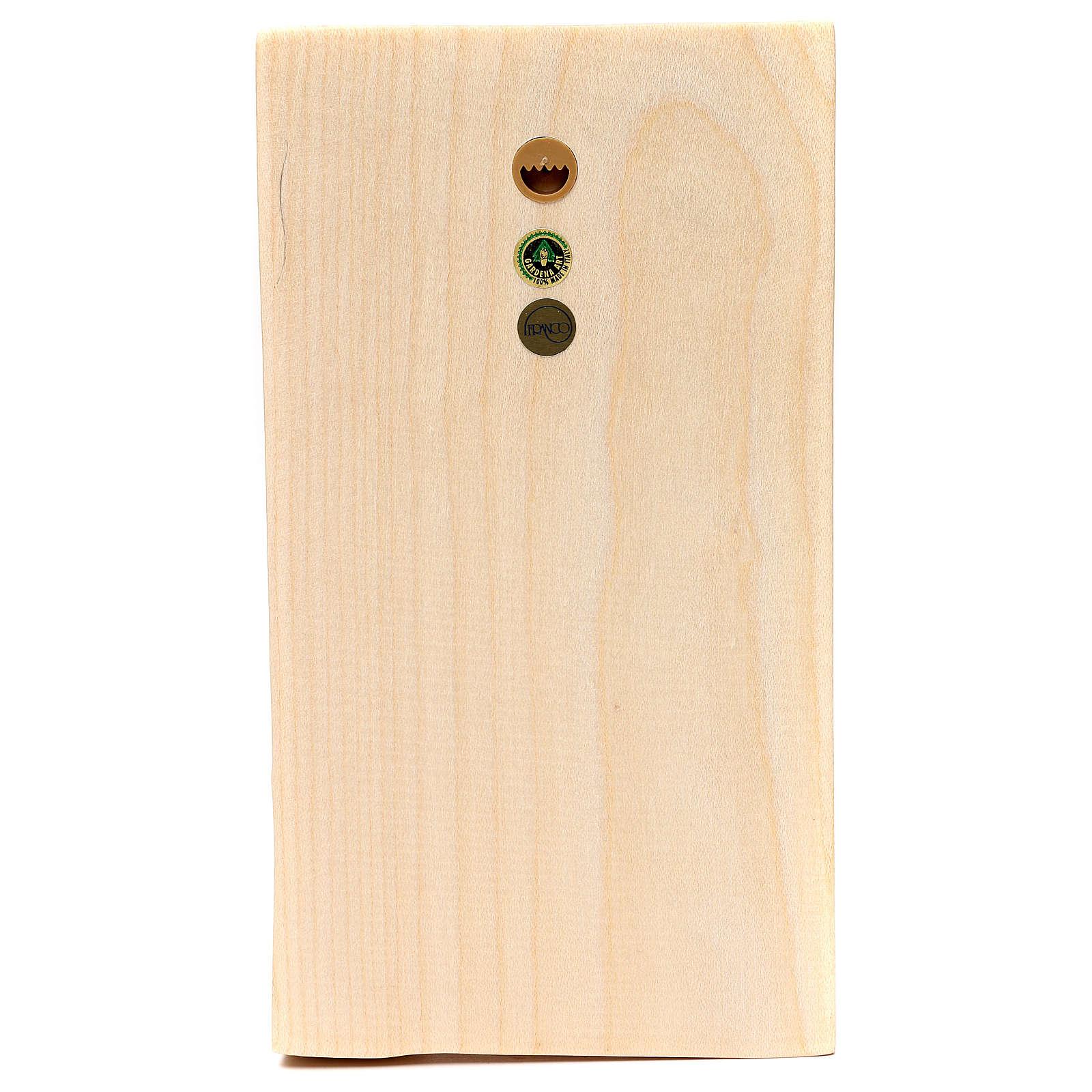 Bajorrelieve manos juntas madera Val Gardena natural encerada 4