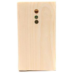 Bajorrelieve manos juntas madera Val Gardena natural encerada s2