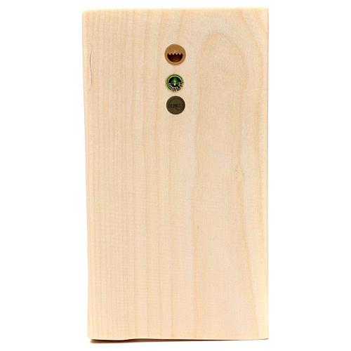 Bajorrelieve manos juntas madera Val Gardena natural encerada 2