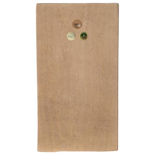 Płaskorzeźba Dłonie Złożone drewno Valgardena patynowane 4