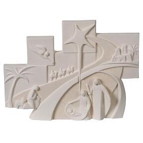 Racconto di Natale quadretto rilievo argilla refrattaria s1