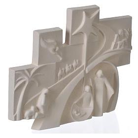 Racconto di Natale quadretto rilievo argilla refrattaria s2