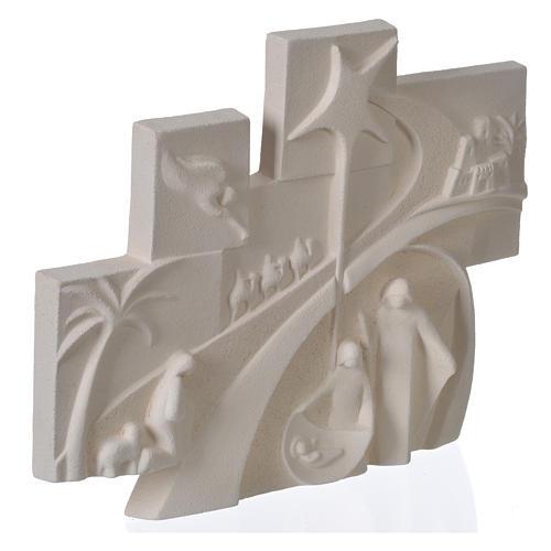 Racconto di Natale quadretto rilievo argilla refrattaria 2