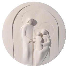 Nazareth round bas relief 30 cm in clay Centro Ave s1