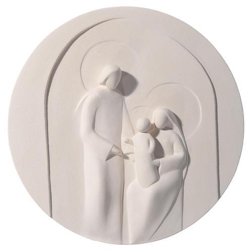 Nazareth round bas relief 30 cm in clay Centro Ave 1