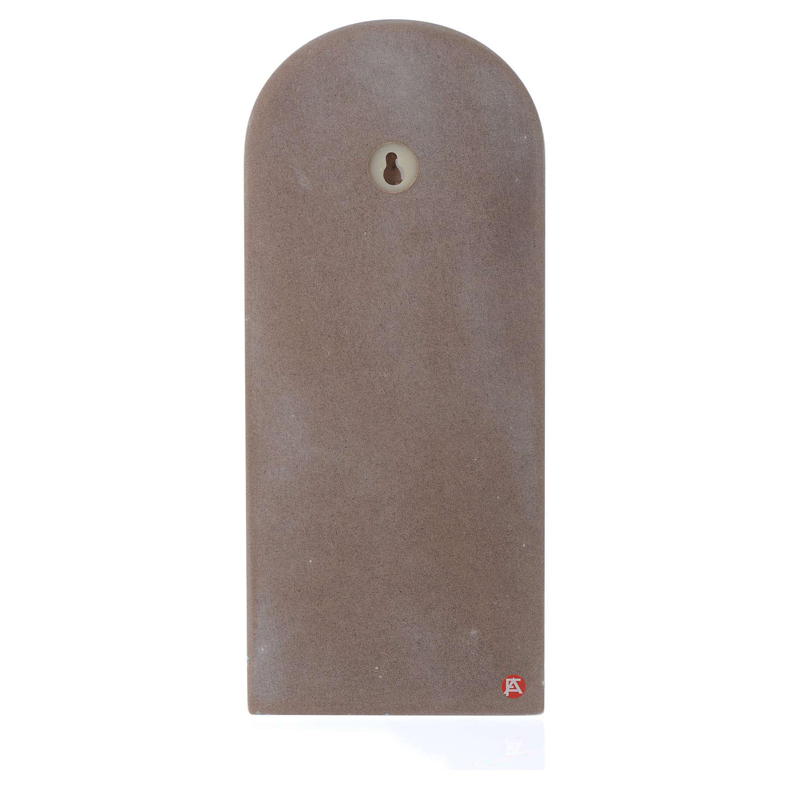 Pala Angelo di Dio con Angelo legno beige 30x10 cm 3