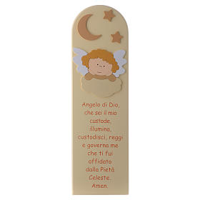 Angel of God shovel with angel in beige wood 45x15 cm s1