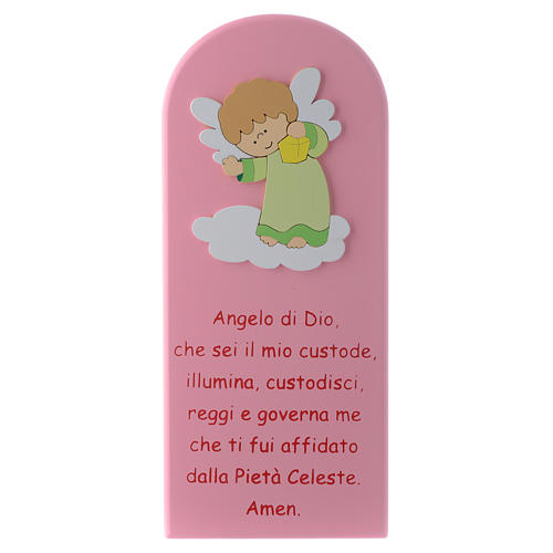 Angel of God shovel pink with green Angel 30x10 cm 1