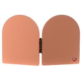 Díptico Ave María y Ángel verde madera rosa 10x15 cm s2