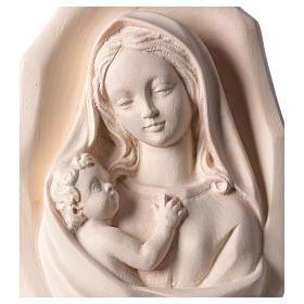 Bassorilievo Madonna con bambino legno Valgardena naturale s2