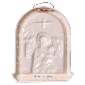 Bassorilievo ceramica Madonna bimbo in braccio 30x25 Deruta s4
