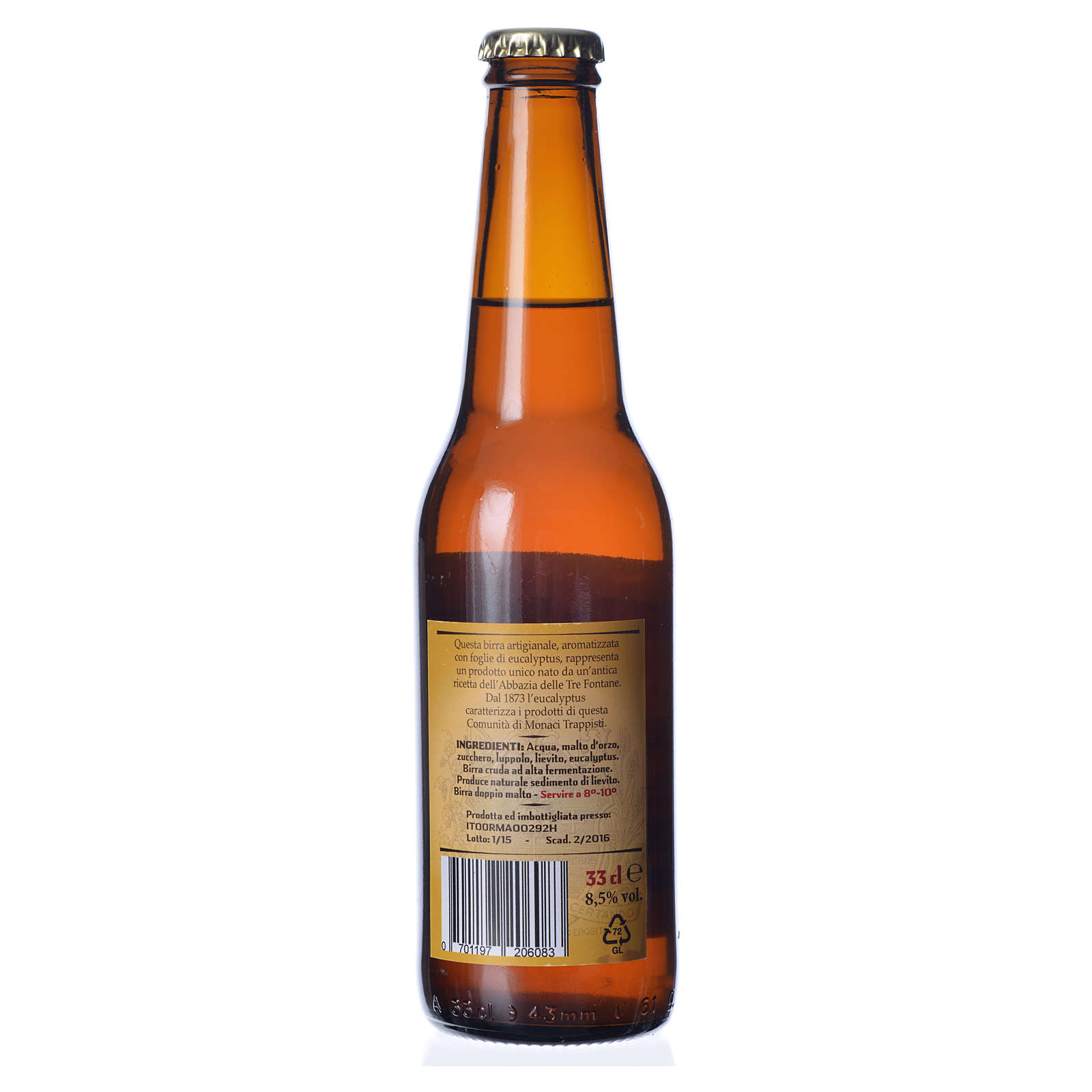 Trappist beer, Tre Fontane Monastery 33cl 3