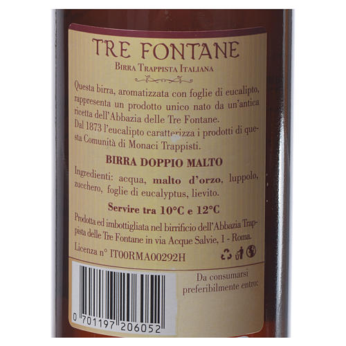 Trappist beer, Tre Fontane Monastery 33cl 6