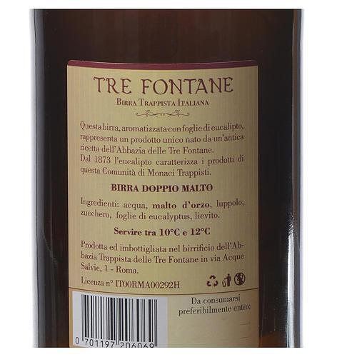 Bière trappiste Moines de l'Abbaye Tre Fontane 75cl 2