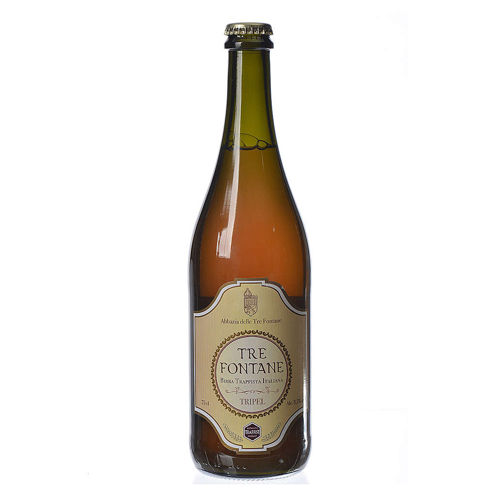 Trappist Monk beer, Tre Fontane Monastery 75cl 3