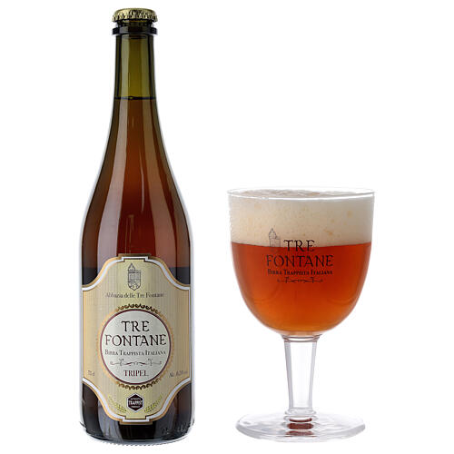 Trappist Monk beer, Tre Fontane Monastery 75cl 2