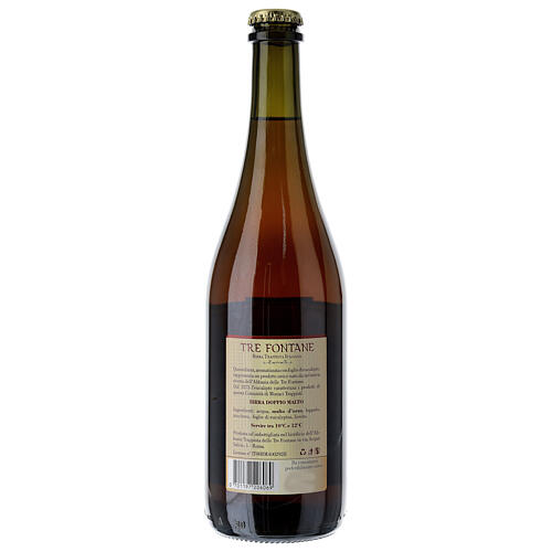 Trappist Monk beer, Tre Fontane Monastery 75cl 5