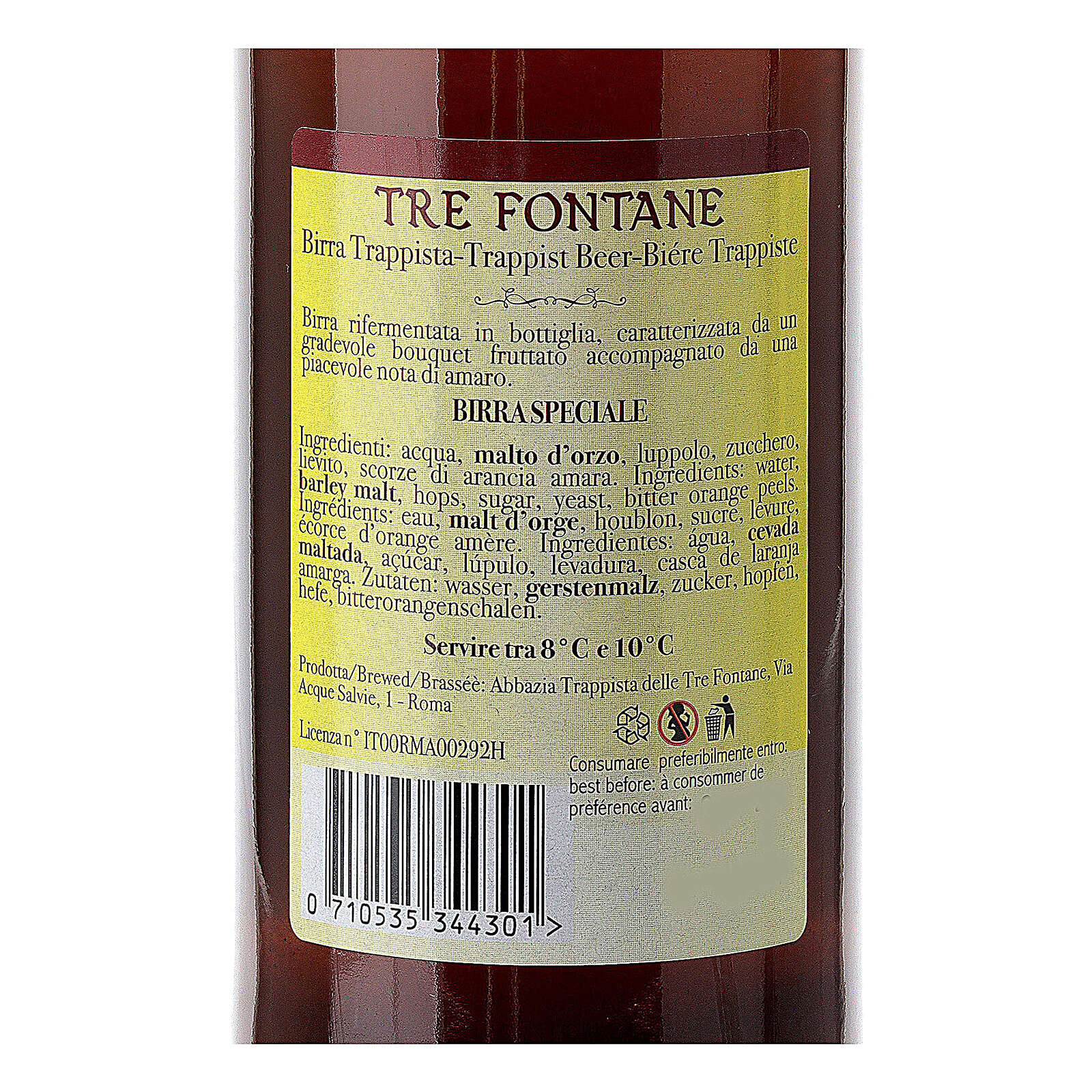 Cerveza Trapense Monjes de Tre Fontane Scala Coeli 33 cl 3